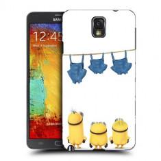 Husa Samsung Galaxy Note 3 N9000 N9005 Silicon Gel Tpu Model Naked Minions - Husa Telefon