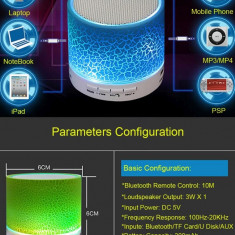 Boxa Bluetooth Portabila Mp3 Player Radio cu Led - Boxa portabila, Conectivitate bluetooth: 1