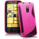 Husa Nokia Lumia 620 Silicon Gel Tpu S-Line Roz - Husa Telefon