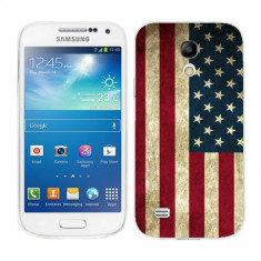 Husa Samsung Galaxy S4 Mini i9190 i9195 Silicon Gel Tpu Model USA Flag - Husa Telefon