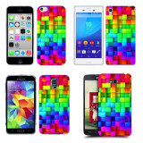 Husa Xiaomi Mi 4i / Mi 4c Silicon Gel Tpu Model Colorful Cubes