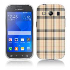 Husa Samsung Galaxy Ace 4 G357 Silicon Gel Tpu Model Burberry Pattern - Husa Telefon