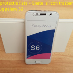 Husa protectie Fata + Spate  silicon trasparent samsug galaxy S6, Alt model telefon Samsung, Transparent