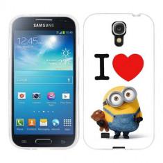 Husa Samsung Galaxy S4 i9500 i9505 Silicon Gel Tpu Model I Love Minions - Husa Telefon