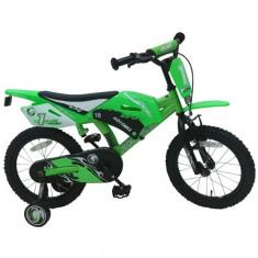 Bicicleta cu Roti Ajutatoare Motor Bike, 16 inch - Bicicleta copii