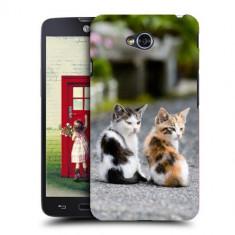 Husa LG L70 Silicon Gel Tpu Model Kitties - Husa Telefon