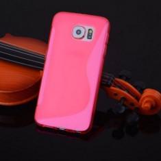Husa Samsung Galaxy S6 Edge G925 Silicon Gel Tpu S-Line Roz - Husa Telefon