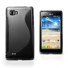 Husa LG P880 Optimus 4X HD Silicon Gel Tpu S-Line Neagra - Husa Telefon