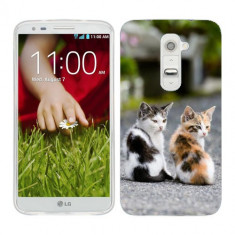 Husa LG G2 Mini Silicon Gel Tpu Model Kitties - Husa Telefon