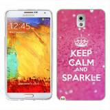 Husa Samsung Galaxy Note 3 N9000 N9005 Silicon Gel Tpu Model Keep Calm Sparkle