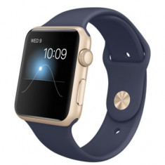 Apple Watch Sport 42mm Gold Aluminum Midnight blue - Smartwatch Apple, Aluminiu, Auriu