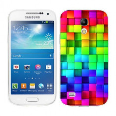 Husa Samsung Galaxy S4 Mini i9190 i9195 Silicon Gel Tpu Model Colorful Cubes - Husa Telefon