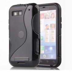 Husa Motorola Defy MB525 / Defy+ MB526 Silicon Gel Tpu S-Line Neagra