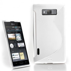 Husa LG P700 P705 Optimus L7 Silicon Gel Tpu S-Line Alba - Husa Telefon