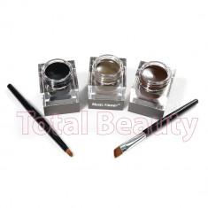Eyeliner Gel 3 culori + 2 pensula - Maro, Negru, Maro inchis - Tus ochi