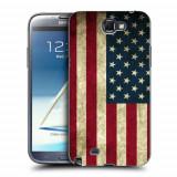 Husa Samsung Galaxy Note 2 N7100 Silicon Gel Tpu Model USA Flag