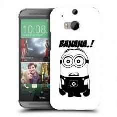 Husa HTC One M8 Silicon Gel Tpu Model Minion Banana B&W