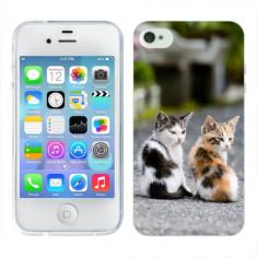 Husa iPhone 4S Silicon Gel Tpu Model Kitties - Husa Telefon Apple, iPhone 4/4S