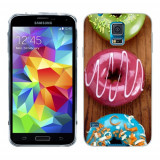 Husa Samsung Galaxy S5 G900 G901 Plus G903 Neo Silicon Gel Tpu Model Donuts Colorate