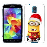 Husa Samsung Galaxy S5 G900 G901 Plus G903 Neo Silicon Gel Tpu Model Craciun Minion Christmas