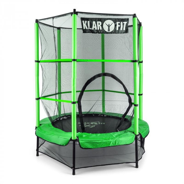 KLARFIT ROCKETKID, verde, 140 cm, trambulină foto mare