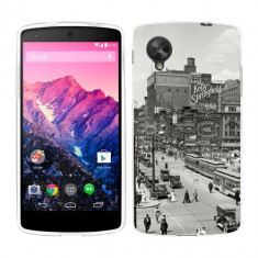 Husa LG Nexus 5 Silicon Gel Tpu Model Vintage City - Husa Telefon
