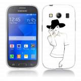 Husa Samsung Galaxy Ace 4 G357 Silicon Gel Tpu Model Women Draw V1