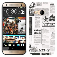 Husa HTC One Mini 2 M8 Mini Silicon Gel Tpu Model Newspaper