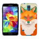 Husa Samsung Galaxy S5 G900 G901 Plus G903 Neo Silicon Gel Tpu Model Desen Vulpe