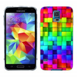Husa Samsung Galaxy S5 G900 G901 Plus G903 Neo Silicon Gel Tpu Model Colorful Cubes