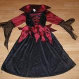 Costum carnaval serbare vrajitoare contesa pentru copii de 5-6 ani - Costum Halloween, Marime: Masura unica, Culoare: Din imagine