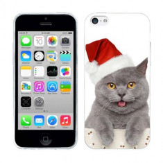 Husa iPhone 5C Silicon Gel Tpu Model Craciun Christmas Kitty - Husa Telefon Apple