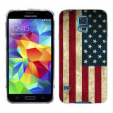 Husa Samsung Galaxy S5 G900 G901 Plus G903 Neo Silicon Gel Tpu Model USA Flag