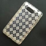 Husa HTC HD Mini Silicon Gel TPU Romburi Alba Semitransparenta - Husa Telefon