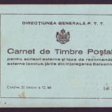 Romania 1939 - Carnet de marci postale 358L Centenarul nasterii Regelui Carol I