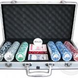 Set poker 300 piese, valiza metal !