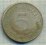 10670 MONEDA- YUGOSLAVIA - 5 DINARA -anul 1991 -STAREA CARE SE VEDE
