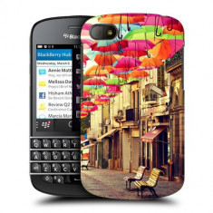 Husa BlackBerry Q10 Silicon Gel Tpu Model Vintage Umbrella - Husa Telefon