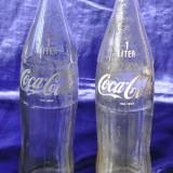 Sticla Coca Cola de 1L. Unguresti. Sticla veche de colectie!