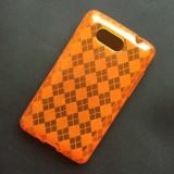 Husa HTC HD Mini Silicon Gel TPU Romburi Portocalie - Husa Telefon