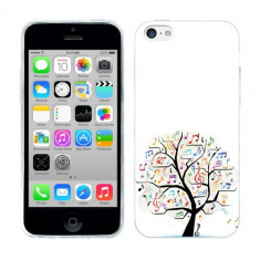 Husa iPhone 5C Silicon Gel Tpu Model Music Tree - Husa Telefon Apple