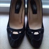 NOI_Pantofi dama piele intoarsa si lac marimea 36