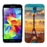 Husa Samsung Galaxy S5 G900 G901 Plus G903 Neo Silicon Gel Tpu Model Paris