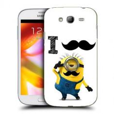 Husa Samsung Galaxy Grand Neo i9060 i9080 i9082 Silicon Gel Tpu Model Minion Mustache - Husa Telefon