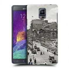 Husa Samsung Galaxy Note 4 N910 Silicon Gel Tpu Model Vintage City - Husa Telefon