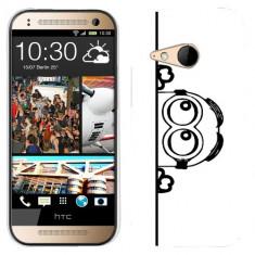 Husa HTC One Mini 2 M8 Mini Silicon Gel Tpu Model Lay Low Minion B&W