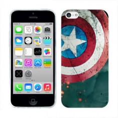 Husa iPhone 5C Silicon Gel Tpu Model Captain America
