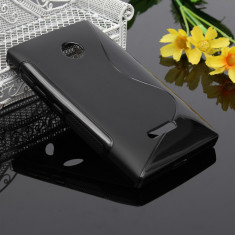 Husa Microsoft Lumia 435 Silicon Gel Tpu S-Line Neagra - Husa Telefon