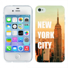 Husa iPhone 4S Silicon Gel Tpu Model New York - Husa Telefon Apple, iPhone 4/4S