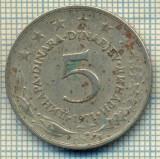 10672 MONEDA- YUGOSLAVIA - 5 DINARA -anul 1971 -STAREA CARE SE VEDE